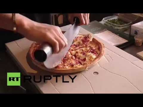 New Zealand: Rabbit skins nailed up for Easter pizza promotion