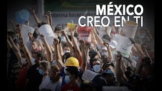 México no esta llorando esta de pie ayudando
