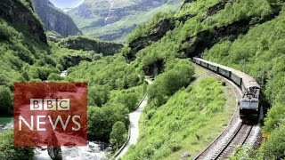 Flam: The most beautiful train journey in the world? BBC News width=