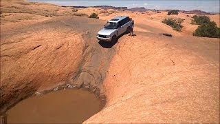 getlinkyoutube.com-Range Rover on Hell's Revenge - Moab Offroad GoPro