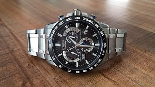 getlinkyoutube.com-Citizen Eco-Drive Atomic Time Perpetual Calendar Chronograph Review (AT4010-50E) - Perth WAtch #13