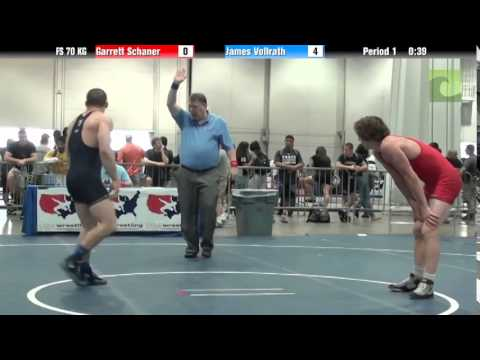 Mens FS FS 70 KG - Garrett Schaner vs. James Vollrath