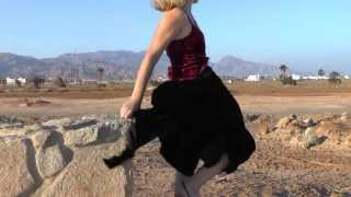 getlinkyoutube.com-windy  velvet long skirt