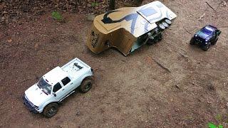 getlinkyoutube.com-RC ADVENTURES - Trailer Rollover - Chevy Duramax & Toyota Hilux