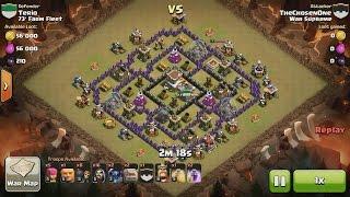 getlinkyoutube.com-Clash of Clans TH8 vs TH8 Golem, Wizard, Witch & Pekka (GoWiWiPe) Clan War 3 Star Attack