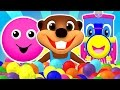 Baby Pop Learn Colors, Shapes, ABCs Alphabet & Nursery Rhymes | Teach Children with Busy Beavers