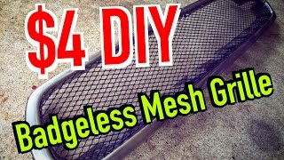 getlinkyoutube.com-How to make your own Mesh grille / badge less grill - $4 DIY - Dirtcheapdaily : Ep.19