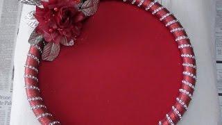 getlinkyoutube.com-How to make Decorative Round Tray