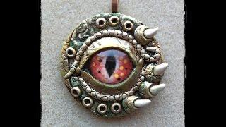 Polymer Clay Dragon Eye Pendant Part 1