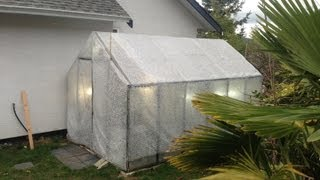 getlinkyoutube.com-Bubble wrapping and heating the tropical orchid greenhouse for winter