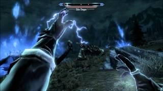 getlinkyoutube.com-Skyrim: Perfect (Legit) Mage Destroys 5 Dragons