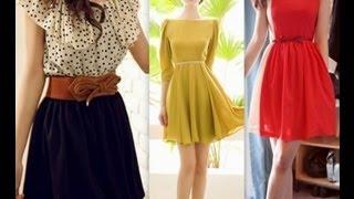getlinkyoutube.com-Como hacer que vestidos económicos luzcan elegantes.