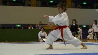 getlinkyoutube.com-2013 新潟県スポ少大会 低学年女子形決勝 Mahiro final ( Junior Sports Club Asson Championships)