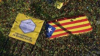 Multitudinaria y reivindicativa celebración de la Diada en Barcelona