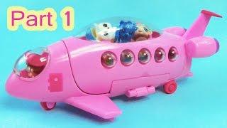 getlinkyoutube.com-LPS Squinkies Jet Party Airplane Littlest Pet Shop Teensies Part 1 of 2 Video Series Cookieswirlc