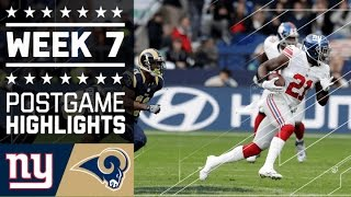 getlinkyoutube.com-Giants vs. Rams (Week 7) | Game Highlights | NFL in London