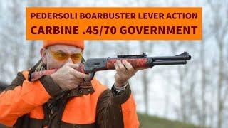 getlinkyoutube.com-Pedersoli Boarbuster lever action carbine .45/70 Government