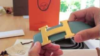 Hermes Belt Unboxing