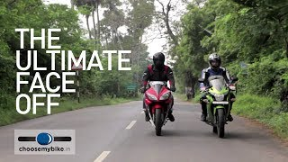 getlinkyoutube.com-Yamaha R15 Vs Honda CBR 150R - A Drag Race