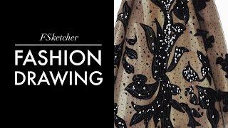 getlinkyoutube.com-DRAWING ELIE SAAB DRESS | Fashion Drawing