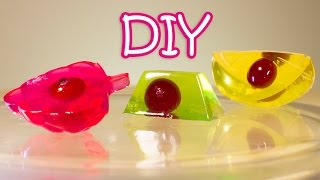 getlinkyoutube.com-DIY Jelly Candies With Cranberries Using Ice Cubes Trays - Very Easy Recipe + Layered Jelly Cake