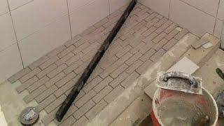getlinkyoutube.com-Shower With No Pan Liner & No Mortar