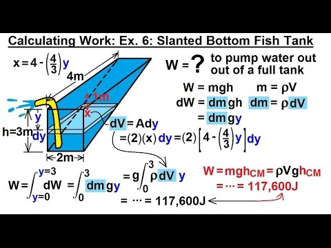 Calculus 2: Apllications - Calculating Work (7 of 16) Calculating Work Example 6: Slanted Bottom
