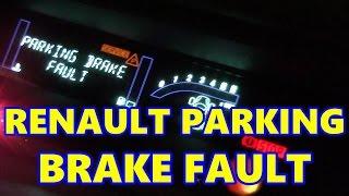 Renault Scenic Electronic Parking Brake Fault, Handbrake, E-Brake
