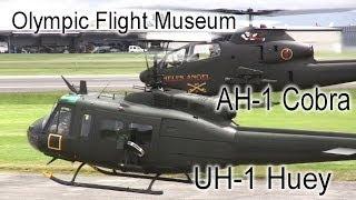 getlinkyoutube.com-Bell AH-1 Cobra and Bell UH-1 Iroquois Demo - Olympic Flight Museum
