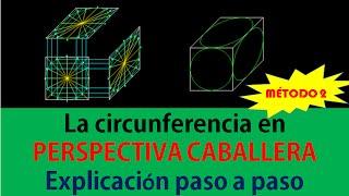 getlinkyoutube.com-GEOMETRÍA DESCRIPTIVA CIRCUNFERENCIA EN PERSPECTIVA CABALLERA METODO 2