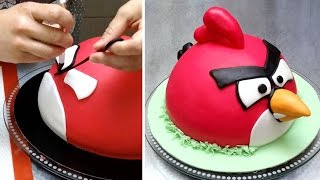 getlinkyoutube.com-ANGRY BIRDS CAKE - How To Make by CakesStepbyStep