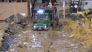 getlinkyoutube.com-RC Off Road Course in Mud 4x4 Jeep Land Rover Trucks Ural ♦ Erlebniswelt Modellbau Kassel 2016