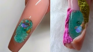 getlinkyoutube.com-AQUARIUM NAIL .....NEW STYLE -----NEW TYPE ----Must Watch ----- !