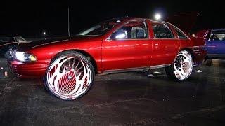 "getlinkyoutube.com-WhipAddict: Chevrolet Caprice on 30"" DUB Floaters, TVs, Custom Trunk, Kandy Paint"