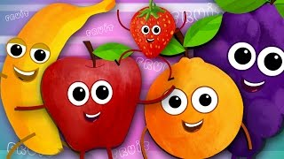 getlinkyoutube.com-Five Little Fruits | Fruits Song | Learn Fruits | Nursery Rhymes | Kids Songs