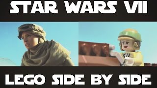 getlinkyoutube.com-LEGO Star Wars: Episode 7 - The Force Awakens trailer Side by Side