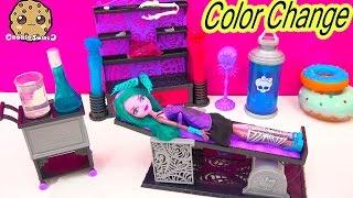 getlinkyoutube.com-Create A Monster High COLOR CHANGER Doll Design Chamber CAM Playset Set Cookieswirlc