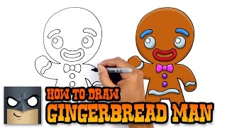 getlinkyoutube.com-How to Draw Gingerbread Man- Christmas Art Lesson for Kids
