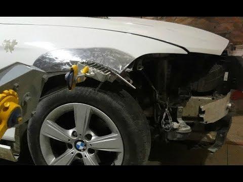 Рихтовка переднего крыла.BMW 1