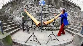 getlinkyoutube.com-Adèle & Zalem, Didgeridoo Duet