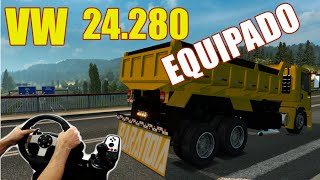 getlinkyoutube.com-EURO TRUCK SIMULATOR 2 - CONSTELLATION 24-280 CAÇAMBA EQUIPADO, VOLANTE G27!!!
