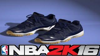 getlinkyoutube.com-NBA 2K16 Shoe Creator - Jordan 11 Navy Gum 👟🔌 ⋆#NBA2K16⋆