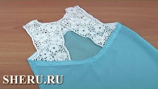 getlinkyoutube.com-Вязание нерегулярной сетки в  комбинированной кофточке-тунике Урок 132