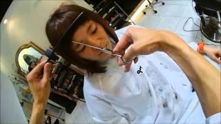 getlinkyoutube.com-【warphair森泉】前髪1cm短髪女子on レインボーカラー