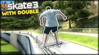 HALL OF MEAT AND AWESOME TRICKS - FUNNY MOMENTS LIVE w/ DOUBLE   SKATE 3 GLITCHES & GAMEPLAY