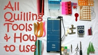 getlinkyoutube.com-14 Quilling Tools Demo & How to Use Basic Quilling Tools | Tutorial