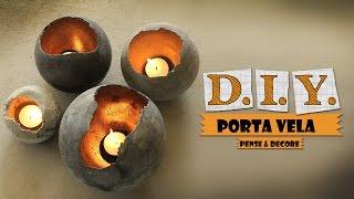 DIY- Porta velas bola de concreto