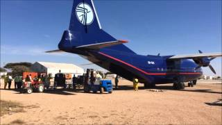 Atea going to Somaliland II - Delivery by Antonov 12 Cargo Plane