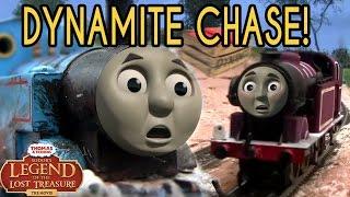 getlinkyoutube.com-Dynamite Chase! -- Sodor's Legend of the Lost Treasure OO/HO Remake!