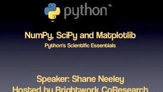 getlinkyoutube.com-Learn Python for Science - NumPy, SciPy and Matplotlib